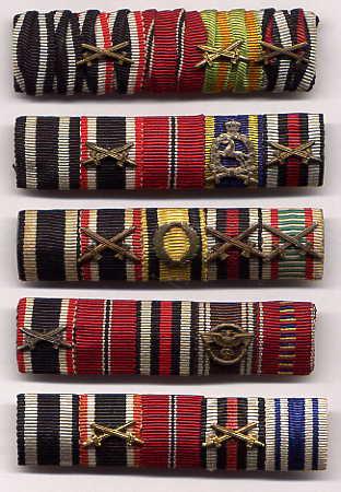 Ribbon bars - German military decorations ww2 ...